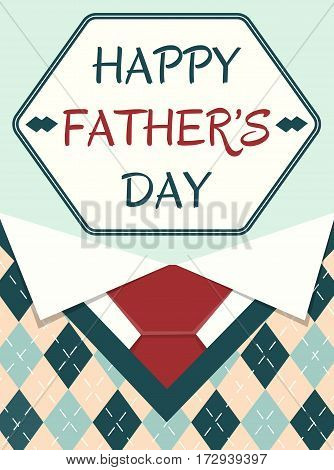 Poster Happy Father Day with elements of the menswear