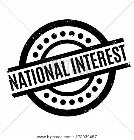 National Interest rubber stamp. Grunge design with dust scratches. Effects can be easily removed for a clean, crisp look. Color is easily changed.