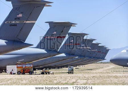 Davis-monthan Air Force Base Amarg Boneyard In Tucson, Arizona