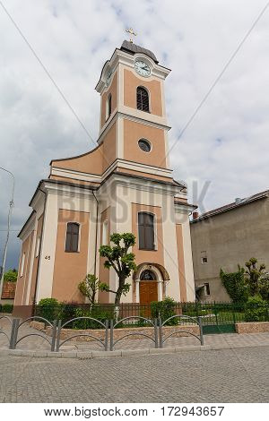 Roman Catholic Church in the city of Hust. Ukraine