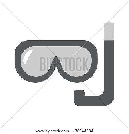 Scuba mask single flat linear icon. Diving line vector icon for websites and mobile minimalistic flat design.