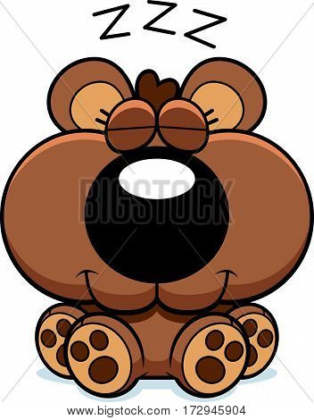 Cartoon Bear Cub Hibernating