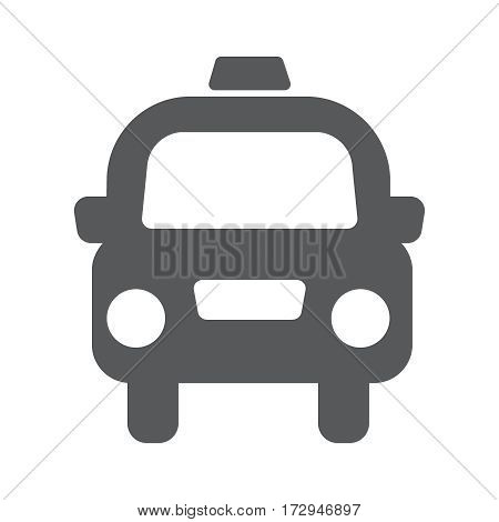 taxi cab vector flat icon illustration EPS10