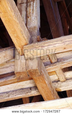 roof historic building detail architecture wood construction