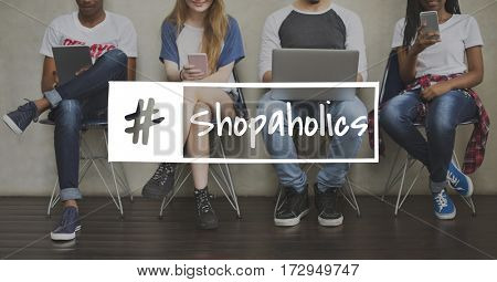 Promotion Enjoyment Shopaholics Customer Store