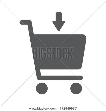 Add to shopping chart vector icon. Online shop sign. Web store purchase symbol.