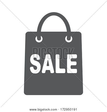 Shopping bag with sale. Flat vector icon illustration EPS 10