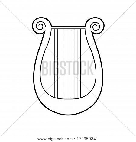 Isolated Lyre Outline