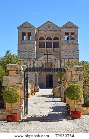 entrance to the Church of the Transfiguration, Mount Tabor, Galilee, Israel
