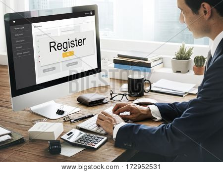 Register Login Membership Join Network