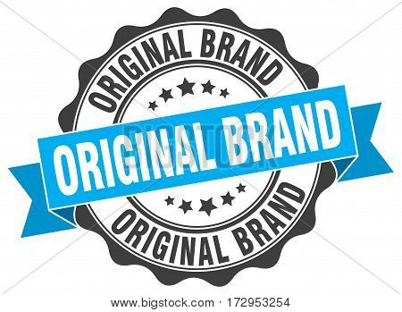 original brand. stamp. sign. seal. round. retro. ribbon