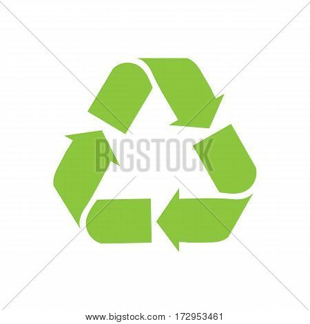 Recycle sign vector icon with energy saving