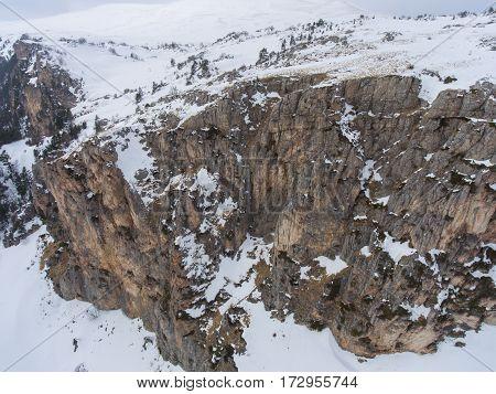 Aerial Landscape. Drone Photo. Rocky Plateau.