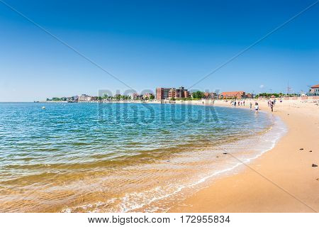Beautiful Beach Landscape On The Island Of Foehr, The Second-largest German North Sea Island And A P