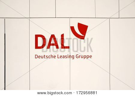 MAINZ, GERMANY - FEBRUARY 14: The facade and the logo of the newly built building of the German Investment Leasing GmbH a specialist for financing on February 14, 2017 in Mainz.