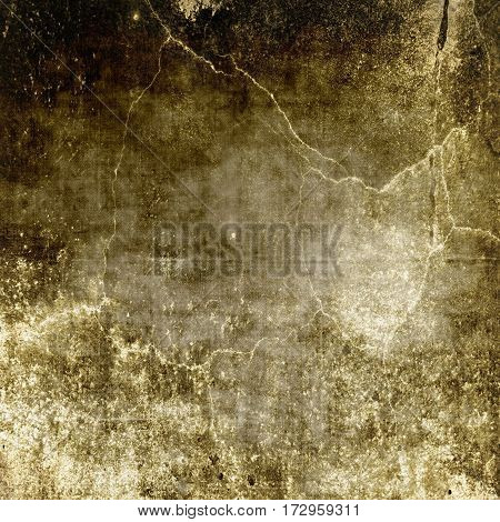 Grunge cracked wall texture background. Sepia tones.