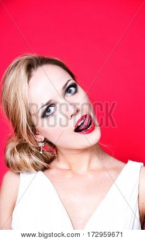 Beautiful Caucasian Woman posing in a studio photo shoot