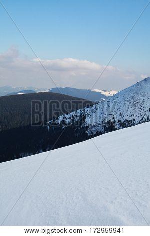 Beautiful Snow Winter in Carpathians Mountains, Ukraine