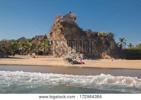 Playa Zipolite, nuda beach in Mazunte, Oaxaca, Mexico