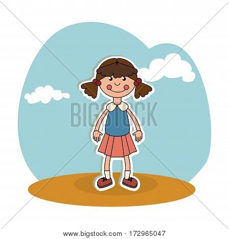 ragdoll kids toy isolated icon vector illustration design