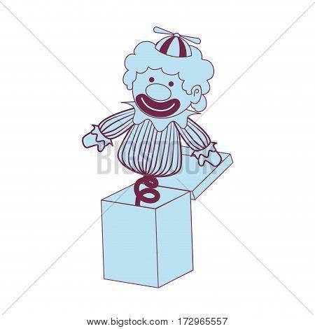 surprice box with clown vector illustration design