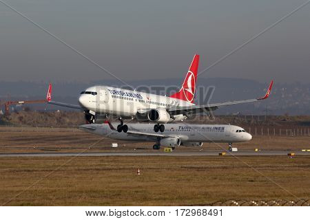 Turkish Airlines Airplanes Stuttgart Airport