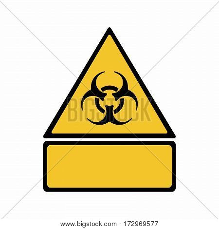 Biological hazard sign vector design isolated on white background