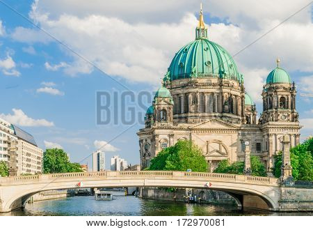 Berlin Cathedral, Berliner Dom, at famous Museum Island, Museumsinsel
