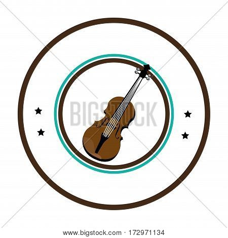 chello instrument seal icon vector illustration design