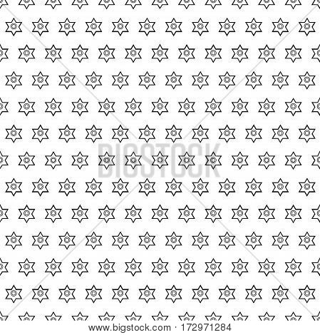 seamless pattern of geometric shapes on a light background