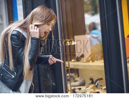 Young Girl In A Shopping