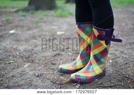Cheery Rain Boots on a Dreary Day