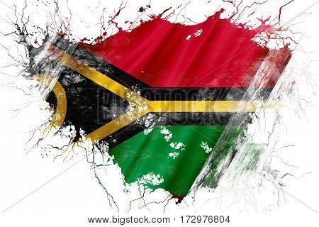 Grunge old Vanatu  flag