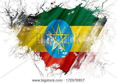 Grunge old Ethiopia  flag