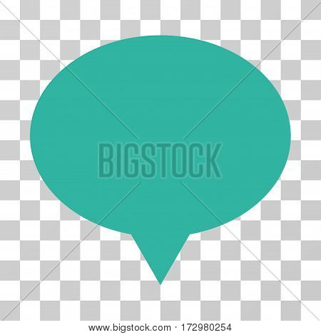 Banner vector pictogram. Illustration style is flat iconic cyan symbol on a transparent background.