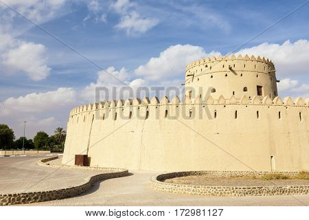 Historic Hili fort in the city of Al Ain. Emirate of Abu Dhabi United Arab Emirates Middle East