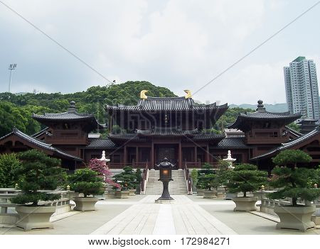 Hongkong :2nd June 2015 Chi Lin Nunnery in Diamond Hill District of Hong Kong