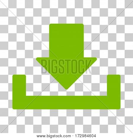 Download vector pictograph. Illustration style is flat iconic eco green symbol on a transparent background.