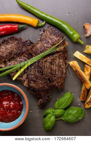 Beef Steak And Chips