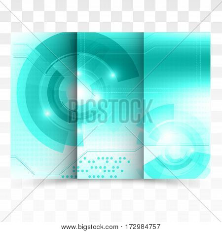 Business brochure template, abstract technology design vector eps10