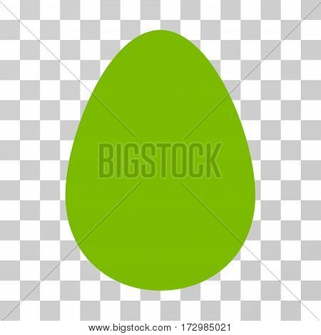 Egg vector pictograph. Illustration style is flat iconic eco green symbol on a transparent background.