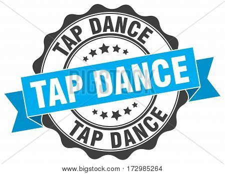 tap dance. stamp. sign. seal. round. retro. ribbon