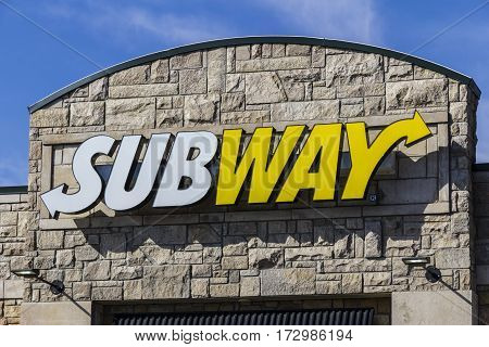 Indianapolis - Circa February 2017: Subway Sandwich Location. Subway is the World's Largest Submarine Sandwich Chain V