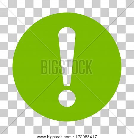Problem vector pictogram. Illustration style is flat iconic eco green symbol on a transparent background.