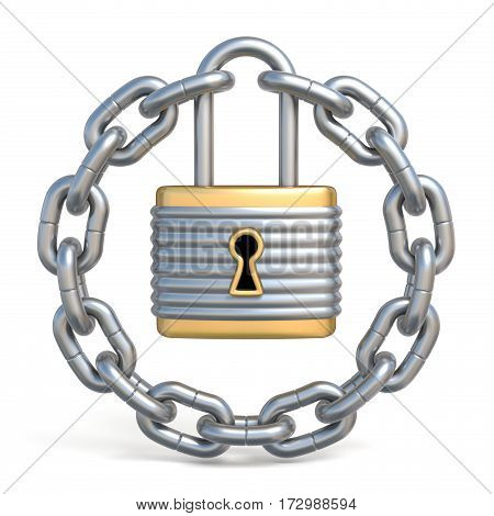 Circle Chain With Lock 3D