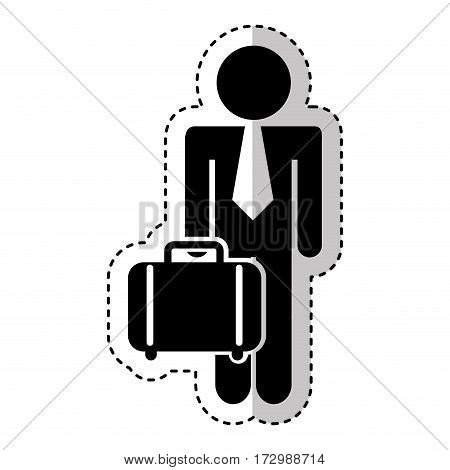 businessman character isolated icon vector illustration design