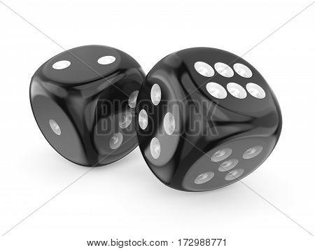 Black Game Dices 3D