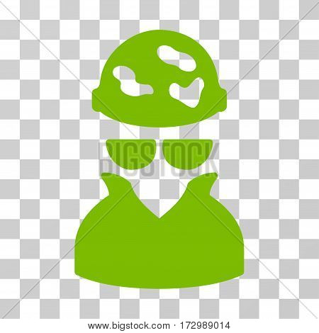 Spotted Spy vector pictograph. Illustration style is flat iconic eco green symbol on a transparent background.