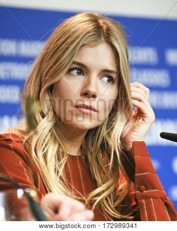 Sienna Miller attends the 'The Lost City of Z' press conference during the 67th Film Festival Berlin at Grand Hyatt Hotel on February 14, 2017 in Berlin, Germany.