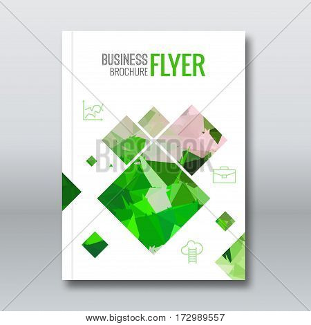 Cover report colorful triangle geometric prospectus design background, cover flyer magazine, brochure book cover template layout